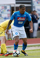 Miguel Allan  of Napoli during a preseason friendly soccer match against Aunania in Dimaro's Stadium   12 July 2017