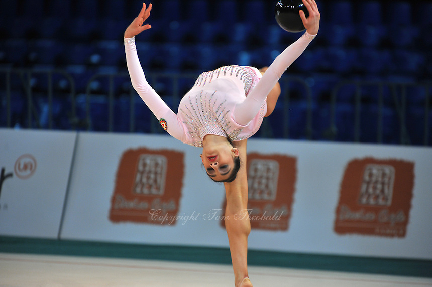 "ZEYNAB JAVADLI of Azerbaijan performs at 2011 World Cup Kiev, ""Deriugina Cup"" in Kiev, Ukraine on May 06, 2011."