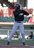April 23, 2004:  Tyrell Godwin of the New Hampshire Fisher Cats, Double-A Eastern League affiliate of the Toronto Blue Jays, during a game at Jerry Uht Park in Erie, PA.  Photo by:  Mike Janes/Four Seam Images