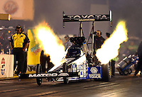 Jul. 26, 2013; Sonoma, CA, USA: NHRA top fuel dragster driver Antron Brown during qualifying for the Sonoma Nationals at Sonoma Raceway. Mandatory Credit: Mark J. Rebilas-