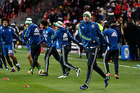 Toronto, ON, Canada - Saturday Dec. 10, 2016: Seattle Sounders FC prior to the MLS Cup finals at BMO Field.