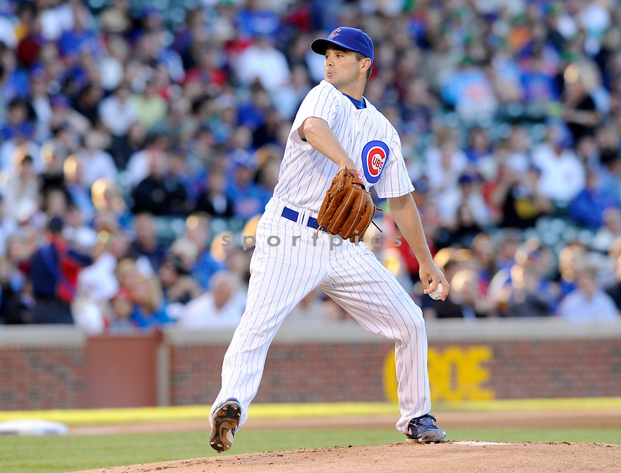 TED LILLY,  of the Chicago Cubs,  in action  during the Cubs  game against the Pittsburgh Pirates in Chicago, Illinois on June 29, 2010. The Chicago Cubs beat the Pirates 3-1..