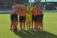 Team huddle during Barnet vs Bristol Rovers, Emirates FA Cup Football at the Hive Stadium on 11th November 2018