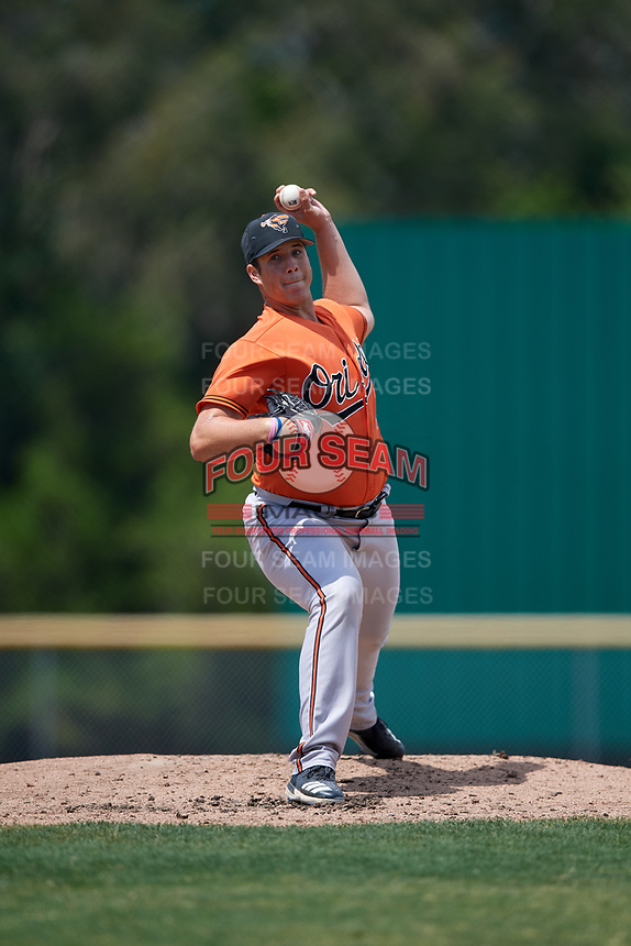 Baltimore Orioles pitcher Cameron Bishop (99) during a Minor League Spring Training game against the Boston Red Sox on March 20, 2018 at Buck O'Neil Complex in Sarasota, Florida.  (Mike Janes/Four Seam Images)