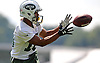 Chandler Worthy #16 of the New York Jets makes a catch during team training camp at Atlantic Health Jets Training Center in Florham Park, NJ on Friday, July 29, 2016.
