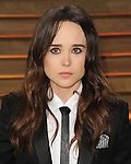 "Ellen Page arriving to the ""Vanity Fair Oscar Party 2014"" held in West Hollywood, Ca. on March 2, 2014."