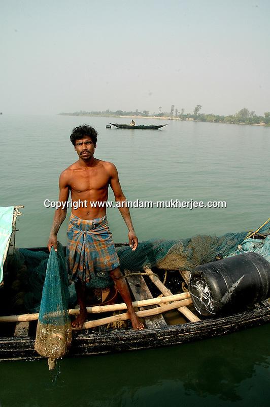 A fisherman of Sunderban, West Bangal, India. April 2011. Arindam Mukherjee