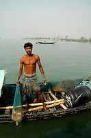 A fisherman of Sunderban, West Bangal, India. April 2011. Arindam Mukherjee
