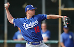 Dodgers' J.D. Martin pitches in a triple-A game against the Brewers in Glendale, Ariz., on Friday, March 15, 2019. <br /> Photo by Cathleen Allison/Nevada Momentum