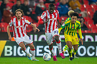 4th November 2019; Bet365 Stadium, Stoke, Staffordshire, England; English Championship Football, Stoke City versus West Bromwich Albion; Badou Ndiaye of Stoke City runs with the ball - Strictly Editorial Use Only. No use with unauthorized audio, video, data, fixture lists, club/league logos or 'live' services. Online in-match use limited to 120 images, no video emulation. No use in betting, games or single club/league/player publications