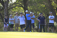 Wade Ormsby (AUS) in action on the 18th during Round 2 of the ISPS Handa World Super 6 Perth at Lake Karrinyup Country Club on the Friday 9th February 2018.<br /> Picture:  Thos Caffrey / www.golffile.ie<br /> <br /> All photo usage must carry mandatory copyright credit (&copy; Golffile | Thos Caffrey)
