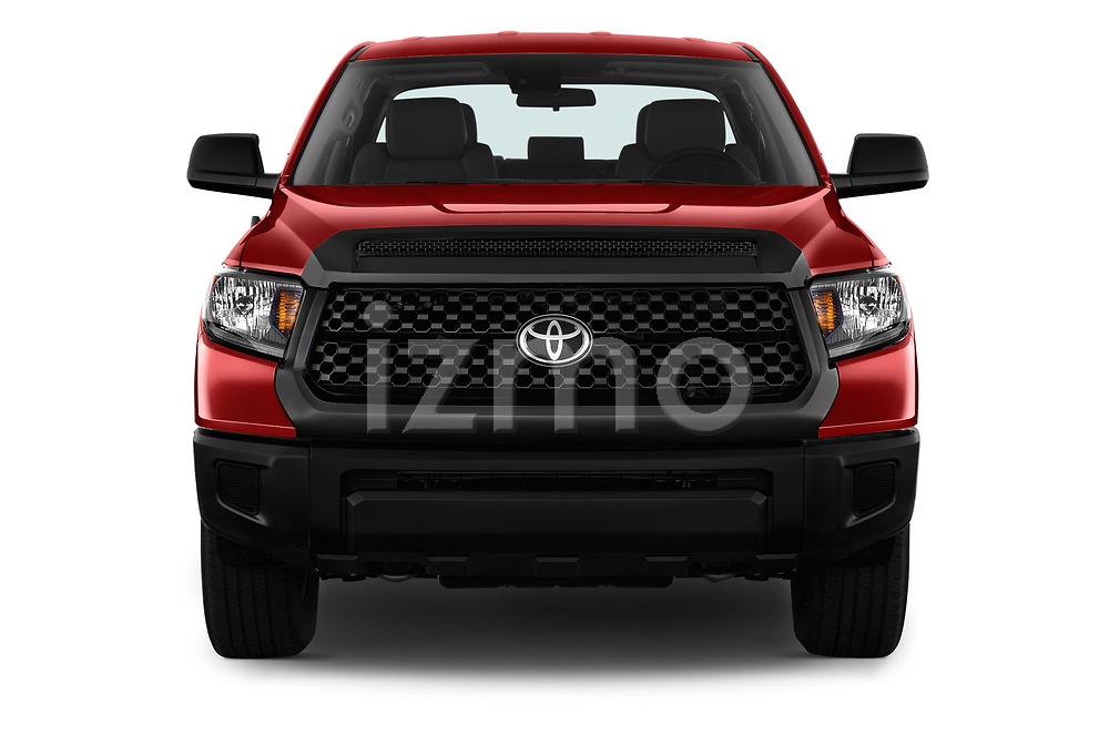 Car photography straight front view of a 2018 Toyota Tundra SR 4.6L Double Cab Standard Bed 4 Door Pick Up