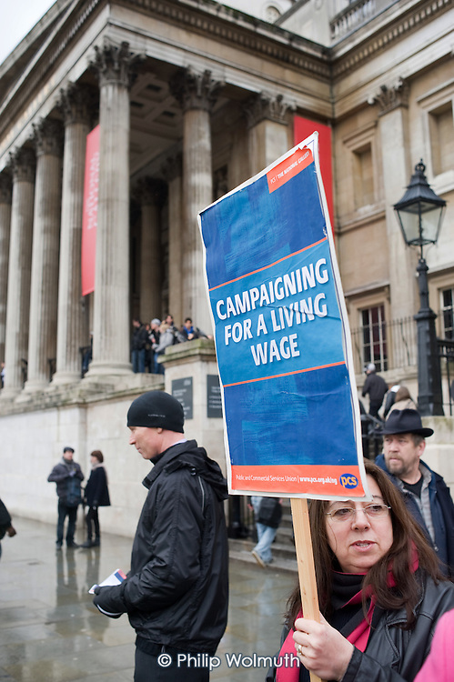 National Gallery staff walk out in protest at a pay offer which falls below the London Living Wage for most Gallery Assistants.