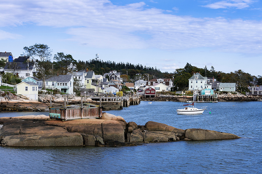 Quaint fishing village, Stonington, Deer Isle, Maine, USA.