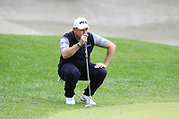 Lee Westwood (ENG) at the 10th green during Saturday's storm delayed Round 2 of the Andalucia Valderrama Masters 2018 hosted by the Sergio Foundation, held at Real Golf de Valderrama, Sotogrande, San Roque, Spain. 20th October 2018.<br /> Picture: Eoin Clarke | Golffile<br /> <br /> <br /> All photos usage must carry mandatory copyright credit (&copy; Golffile | Eoin Clarke)
