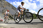 White Jersey Simon Yates (GBR) Orica-Scott and Alberto Contador (ESP) Trek-Segafredo climb through the Caisse Deserte on Col d'Izoard during Stage 18 of the 104th edition of the Tour de France 2017, running 179.5km from Briancon to the summit of Col d'Izoard, France. 20th July 2017.<br /> Picture: Eoin Clarke | Cyclefile<br /> <br /> All photos usage must carry mandatory copyright credit (&copy; Cyclefile | Eoin Clarke)