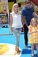 Tori Spelling, Dean McDermott &amp; Daughter at the world premiere for &quot;The Emoji Movie&quot; at the Regency Village Theatre, Westwood. Los Angeles, USA 23 July  2017<br /> Picture: Paul Smith/Featureflash/SilverHub 0208 004 5359 sales@silverhubmedia.com