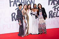 Farida Khelfa , Natalia Vodianova, Carla Bruni, Naomi Campbell at the 2018 Fashion For Relief gala during the 71st Cannes Film Festival, held at Aeroport Cannes Mandelieu in Cannes, France.<br /> CAP/NW<br /> &copy;Nick Watts/Capital Pictures