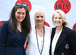 Diane Paulus, Eve Ensler and Daryl Roth attends the 9th Annual LILLY Awards at the Minetta Lane Theatre on May 21,2018 in New York City.