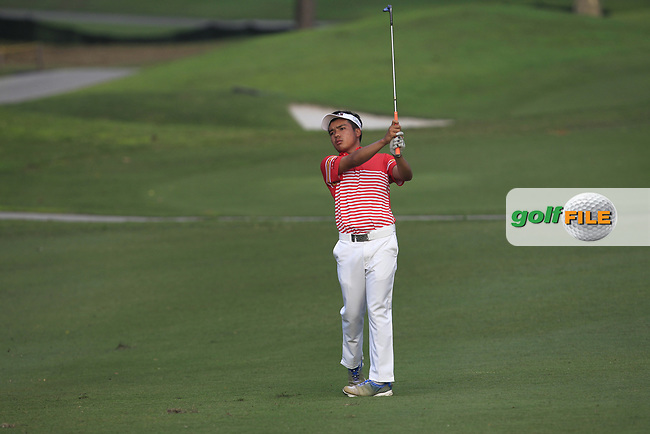 Suradit Yongcharoenchai (THA) in action on the 1st during Round 1 of the Maybank Championship at the Saujana Golf and Country Club in Kuala Lumpur on Thursday 1st February 2018.<br /> Picture:  Thos Caffrey / www.golffile.ie<br /> <br /> All photo usage must carry mandatory copyright credit (© Golffile | Thos Caffrey)