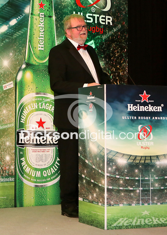 Thursday 10th May 2018 | Ulster Rugby Awards 2018<br /> <br /> Ulster Branch President, Graffin Parke, during the 2018 Heineken Ulster Rugby Awards at La Mom Hotel, Belfast. Photo by John Dickson / DICKSONDIGITAL