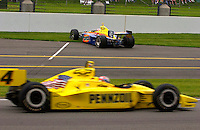 87th Indianapolis 500, Indianapolis Motor Speedway, Speedway, Indiana, USA  25 May,2003.Robbie Buhl's car comes to rest in the pitlane after spinning on cold tires following a pitstop..World Copyright©F.Peirce Williams 2003 .ref: Digital Image Only..F. Peirce Williams .photography.P.O.Box 455 Eaton, OH 45320.p: 317.358.7326  e: fpwp@mac.com..
