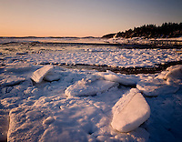 ice at low tide, Conomo Point, Essex, MA