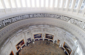 The Rotunda of the US Capitol is seen from the newly-restored Capitol Dome in Washington, DC, November 15, 2016. <br /> Credit: Olivier Douliery / Pool via CNP