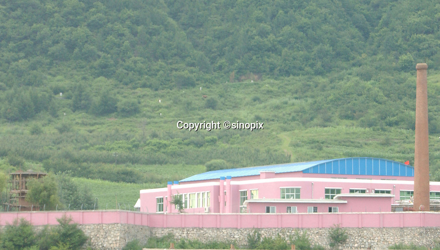 01-AUG-02: NORTH KOREAN BORDER: TUMEN, JILIN, CHINA<br /> Chinese detention center being built to hold captured North Korean refugees before they are deported back. There is a massive security crack-down in the area.