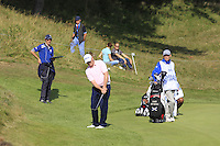 David Drysdale (SCO) on the 9th during Round 2 of the KLM Open at Kennemer Golf &amp; Country Club on Friday 12th September 2014.<br /> Picture:  Thos Caffrey / www.golffile