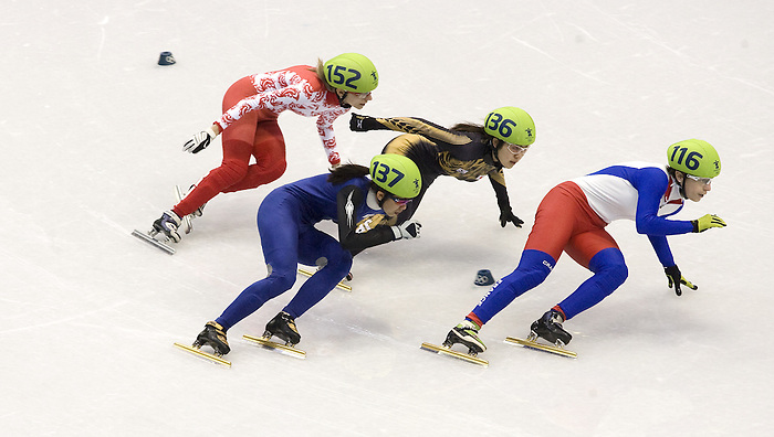 February 24 2010: Woman's 1000 M Heats Pacific Coliseum, Vancouver 2010  Olympics