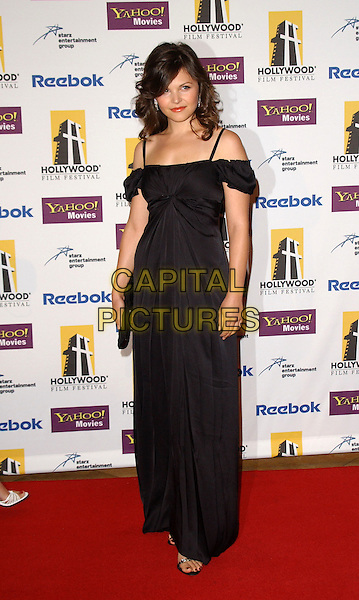GINNIFER GOODWIN.The 9th Annual Hollywood Film Festival Awards Gala held at The Beverly Hills Hilton in Beverly Hills, California  .October 24th, 2005.Ref: DVS.full length black dress off the shoulder.www.capitalpictures.com.sales@capitalpictures.com.Supplied By Capital PIctures