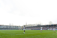 A general view of the Rec during the match. European Rugby Challenge Cup Quarter Final, between Bath Rugby and CA Brive on April 1, 2017 at the Recreation Ground in Bath, England. Photo by: Patrick Khachfe / Onside Images