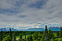 July 17 thru 23 / Alaska / Vacation and stock photography / The Denali Range featuring Mt. McKinley from 200 miles South of Denali State Park / Photo by Bob Laramie