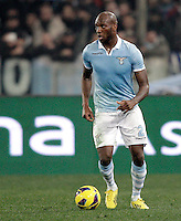 Calcio, semifinale di ritorno di Coppa Italia: Lazio vs Juventus. Roma, stadio Olimpico, 29 gennaio 2013..Lazio defender Michael Ciani, of France, in action during the Italy Cup football semifinal return leg match between Lazio and Juventus at Rome's Olympic stadium, 29 January 2013..UPDATE IMAGES PRESS/Riccardo De Luca