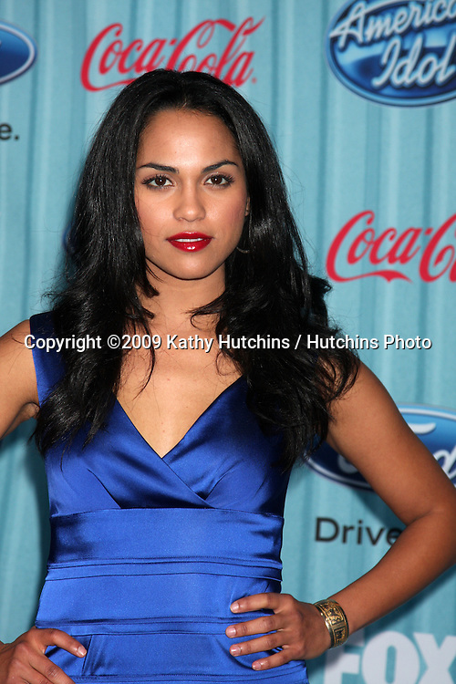 Monica Raymund  arriving at the American idol Top 13 Party at AREA in Los Angeles, CA  on.March 5, 2009.©2009 Kathy Hutchins / Hutchins Photo...                .