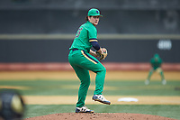 Notre Dame Fighting Irish starting pitcher Cameron Brown (26) in action against the Wake Forest Demon Deacons at David F. Couch Ballpark on March 10, 2019 in  Winston-Salem, North Carolina. The Demon Deacons defeated the Fighting Irish 7-4 in game one of a double-header.  (Brian Westerholt/Four Seam Images)