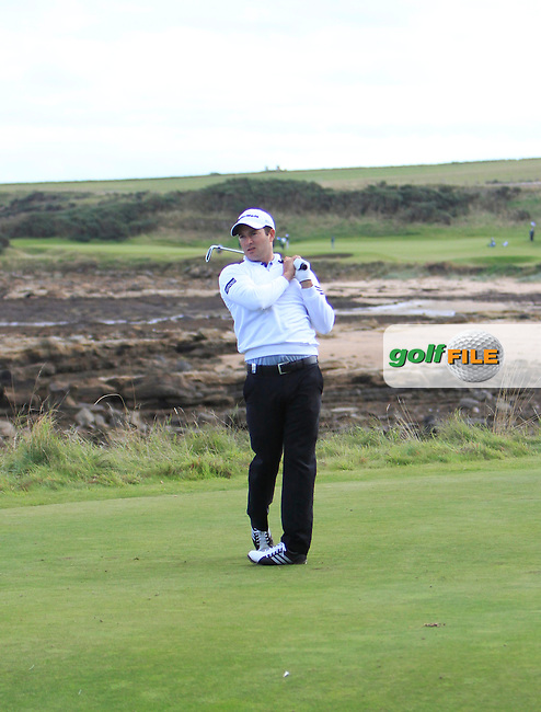 Gareth Maybin (NIR) during Round 1of the Alfred Dunhill Links Championship at Kingsbarns Golf Club on Thursday 26th September 2013.<br /> Picture:  Thos Caffrey / www.golffile.ie