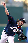 Reno Aces' Mike Bolsinger pitches against the Sacramento River Cats in a minor league baseball game in Reno, Nev., on Wednesday, June 12, 2013. Sacramento won 9-7.<br /> Photo by Cathleen Allison