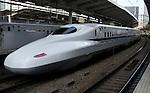 Shinkansen bullet train at the Tokyo station