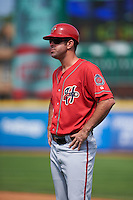 Harrisburg Senators coach Devin Ivany (11) during a game against the Erie Seawolves on August 30, 2015 at Jerry Uht Park in Erie, Pennsylvania.  Harrisburg defeated Erie 4-3.  (Mike Janes/Four Seam Images)