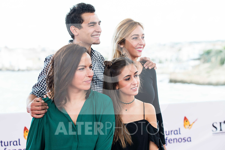 "Actress Laura Yuste, Marina Boti, Lluis Segura and the director of the film Denise Castro Palaudarias pose to the media during the presentation of the film ""Salvacion"" at Festival de Cine Fantastico de Sitges in Barcelona. October 11, Spain. 2016. (ALTERPHOTOS/BorjaB.Hojas)"