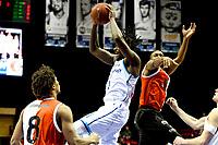 GRONINGEN - Basketbal, Donar - Feyenoord, Eredivisie, seizoen 2019-2020, 10-11-2019, rebound van Donar speler Donte Thomas