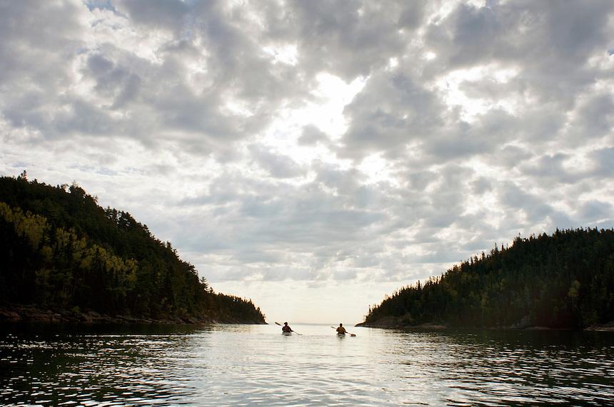 Sea Kayaking, Charlevoix, Quebec, Canada