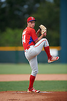 GCL Phillies starting pitcher Nick Fanti (64) during a game against the GCL Pirates on August 6, 2016 at Pirate City in Bradenton, Florida.  GCL Phillies defeated the GCL Pirates 4-1.  (Mike Janes/Four Seam Images)