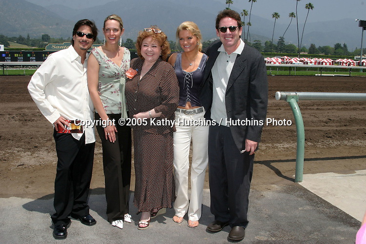 Bryan Dattilo, Arianne Zuker,  Patrika Darbo, Jacee Jule,.Steve Blackwood.Soap Opera Day at.Santa Anita Park.benefiting Make-a-Wish Foundation.Arcadia, CA.April 17, 2005.©2005 Kathy Hutchins / Hutchins Photo