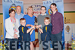 Shane Lowth (Athletics),Michael Reidy and Jack McCarthy (merit Award for Music) who were presented with their Awards at a special Ceremony at CBS The Green,Tralee on Thursday evening