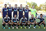 14 June 2014: Carolina's starters. Front row (left to right): Zack Schilawski, Kupono Low, Ty Shipalane (RSA), Mike Grella, Cesar Elizondo (CRC). Back row (left to right): Jun Marques Davidson (JPN), Connor Tobin, Toni Stahl (FIN), Daniel Scott, Nazmi Albadawi, Scott Goodwin. The Carolina RailHawks of the North American Soccer League played Chivas USA of Major League Soccer at WakeMed Stadium in Cary, North Carolina in the fourth round of the 2014 Lamar Hunt U.S. Open Cup soccer tournament. The RailHawks advanced by winning a penalty kick shootout 3-2 after the game had ended in a 1-1 tie after overtime.