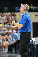 Joe Prunty Great Britain Head Coach shouts orders during the EuroBasket 2015 2nd Qualifying Round Great Britain v Bosnia & Herzegovina (Euro Basket 2nd Qualifying Round) at Copper Box Arena in London. - 13/08/2014