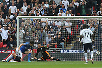 Erik Lamela of Tottenham Hotspur scores the third goal during Tottenham Hotspur vs Leicester City, Premier League Football at Wembley Stadium on 13th May 2018